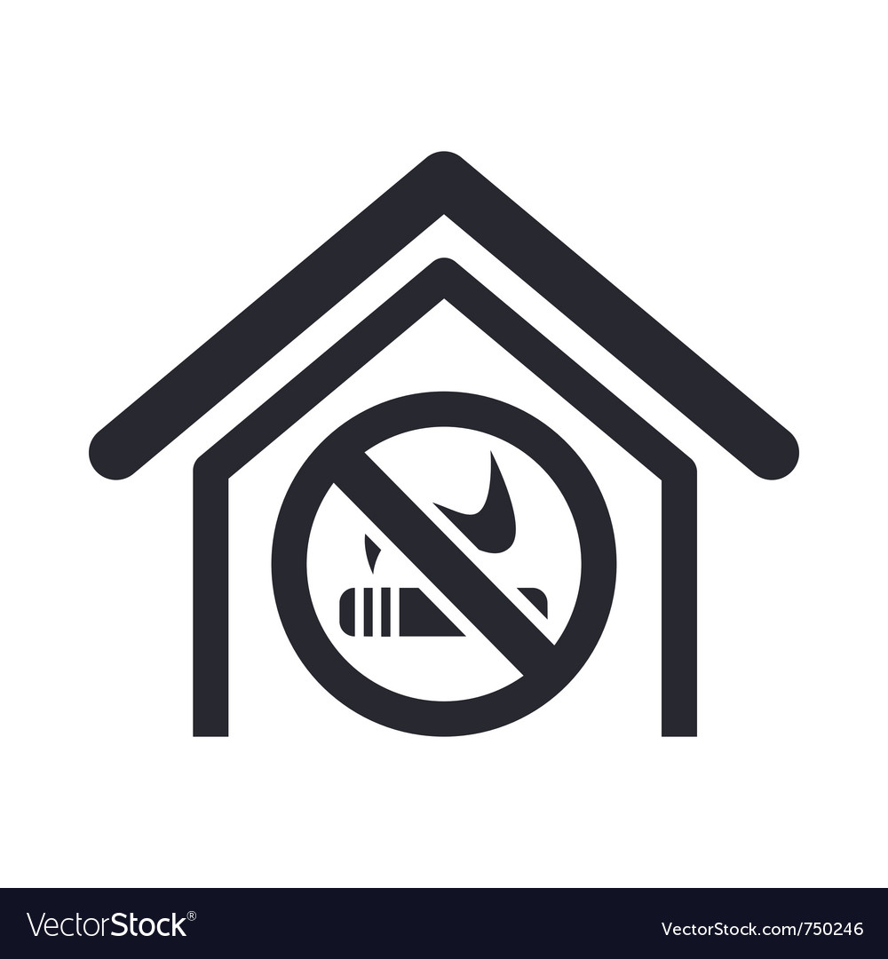 No smoke icon vector | Price: 1 Credit (USD $1)