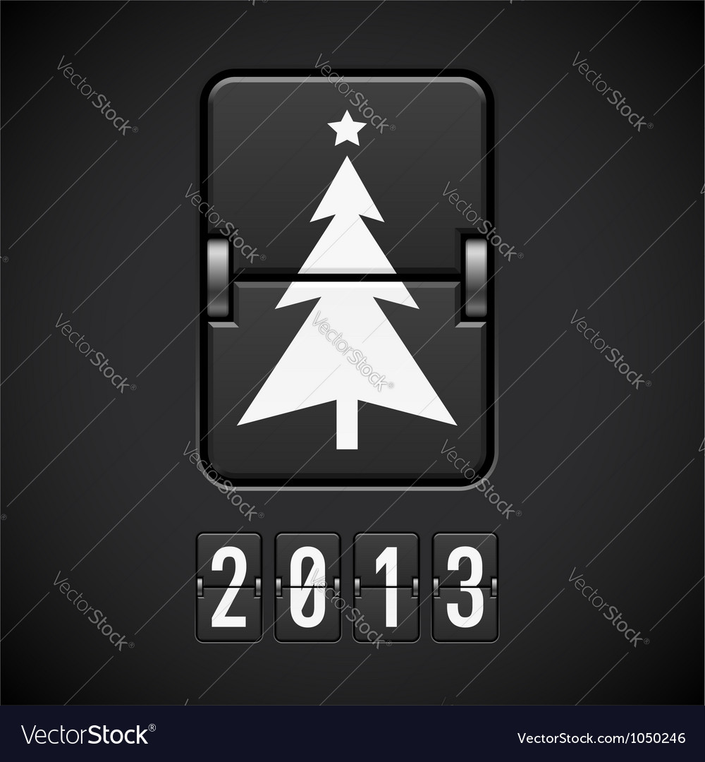 Scoreboard christmas tree vector   Price: 1 Credit (USD $1)
