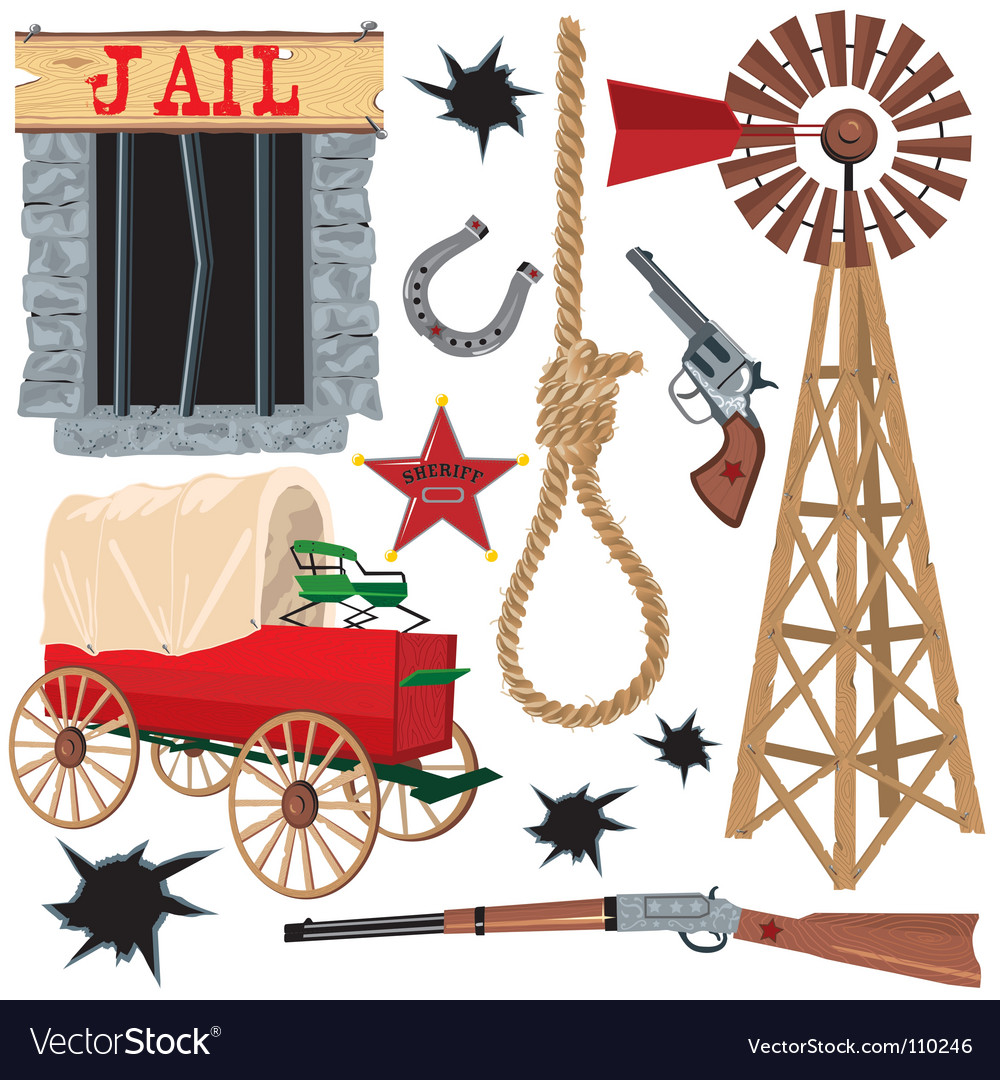 Wild west clip art icons vector | Price: 3 Credit (USD $3)