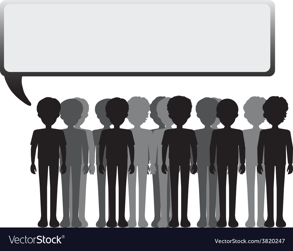 An empty signage with a group of people vector | Price: 1 Credit (USD $1)