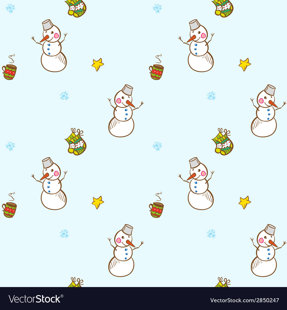Christmas and new year seamless pattern vector   Price: 1 Credit (USD $1)