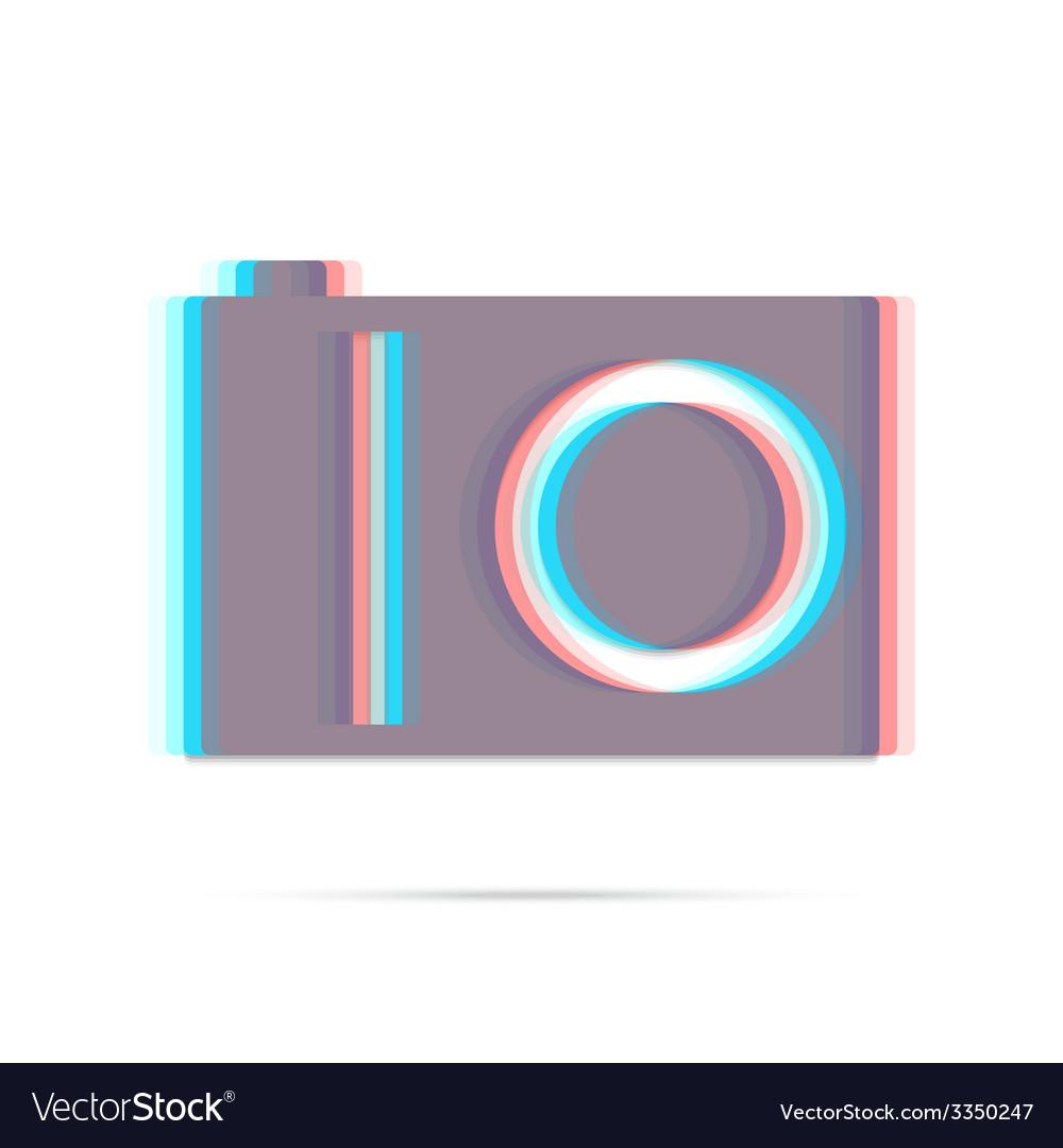 Digital camera flat anagliph icon vector   Price: 1 Credit (USD $1)