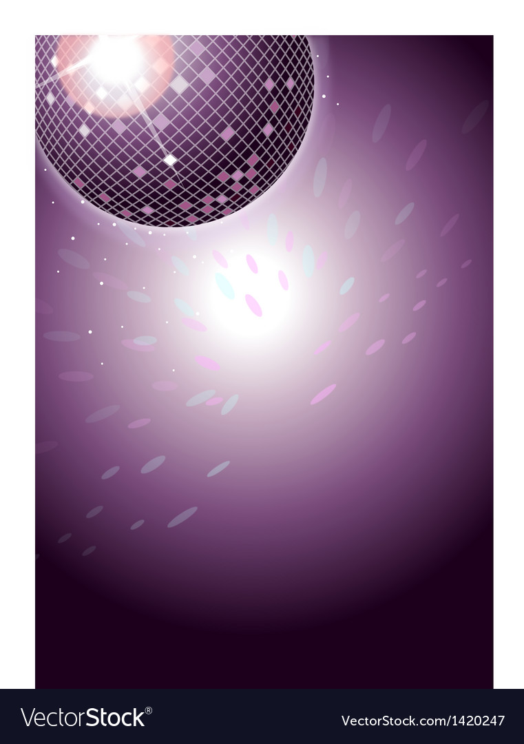 Disco dance background vector | Price: 1 Credit (USD $1)