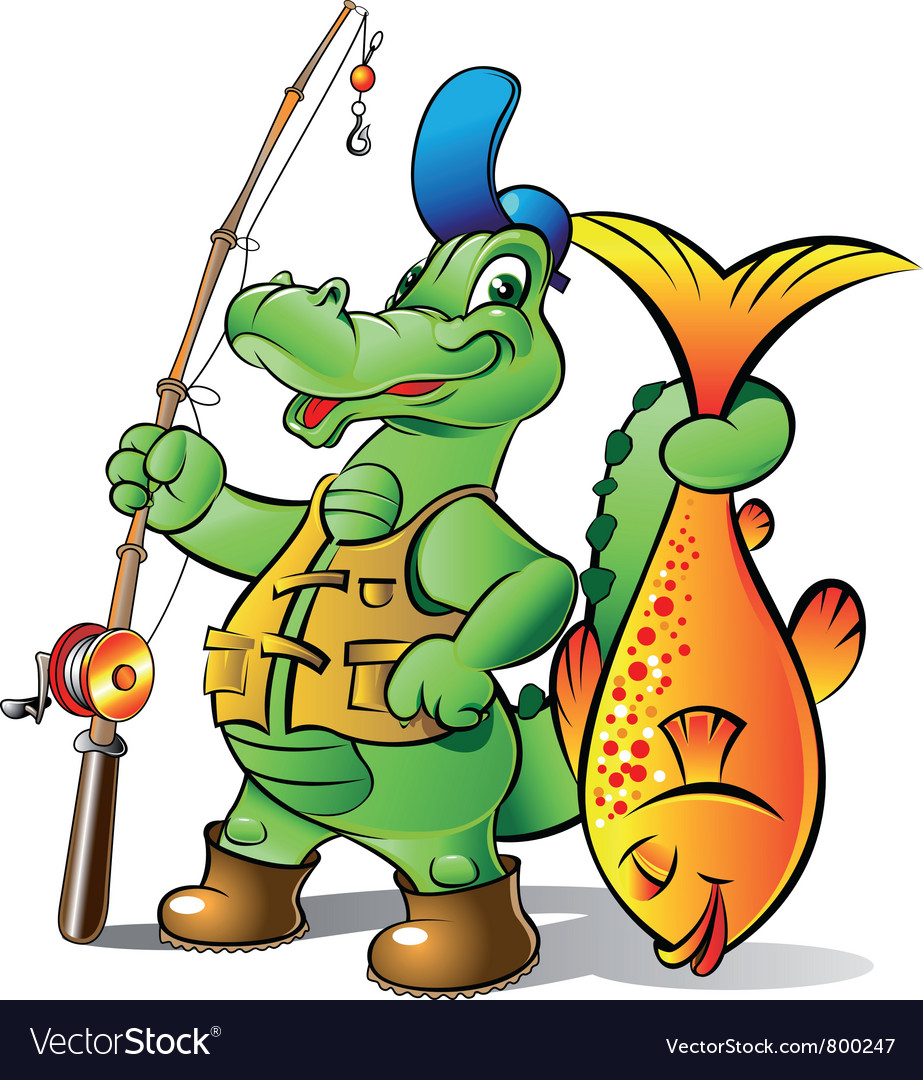 Fisher alligator vector | Price: 3 Credit (USD $3)