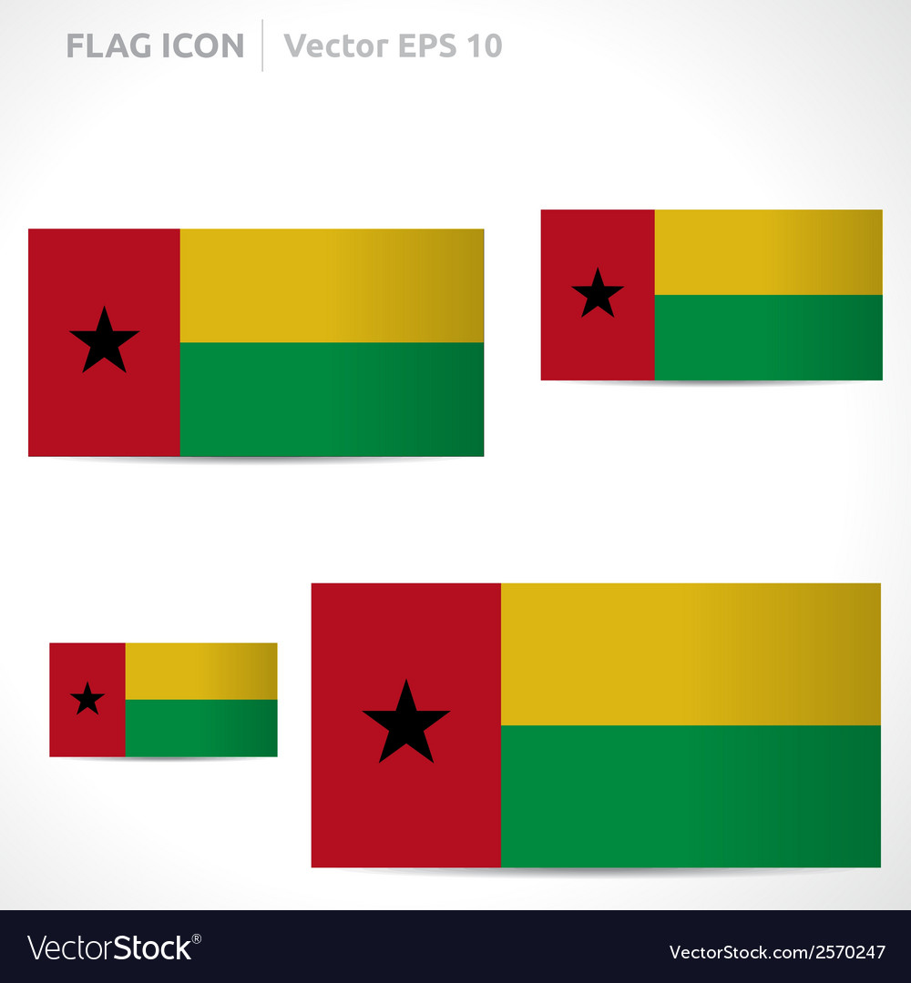 Guinea-bissau flag template vector | Price: 1 Credit (USD $1)