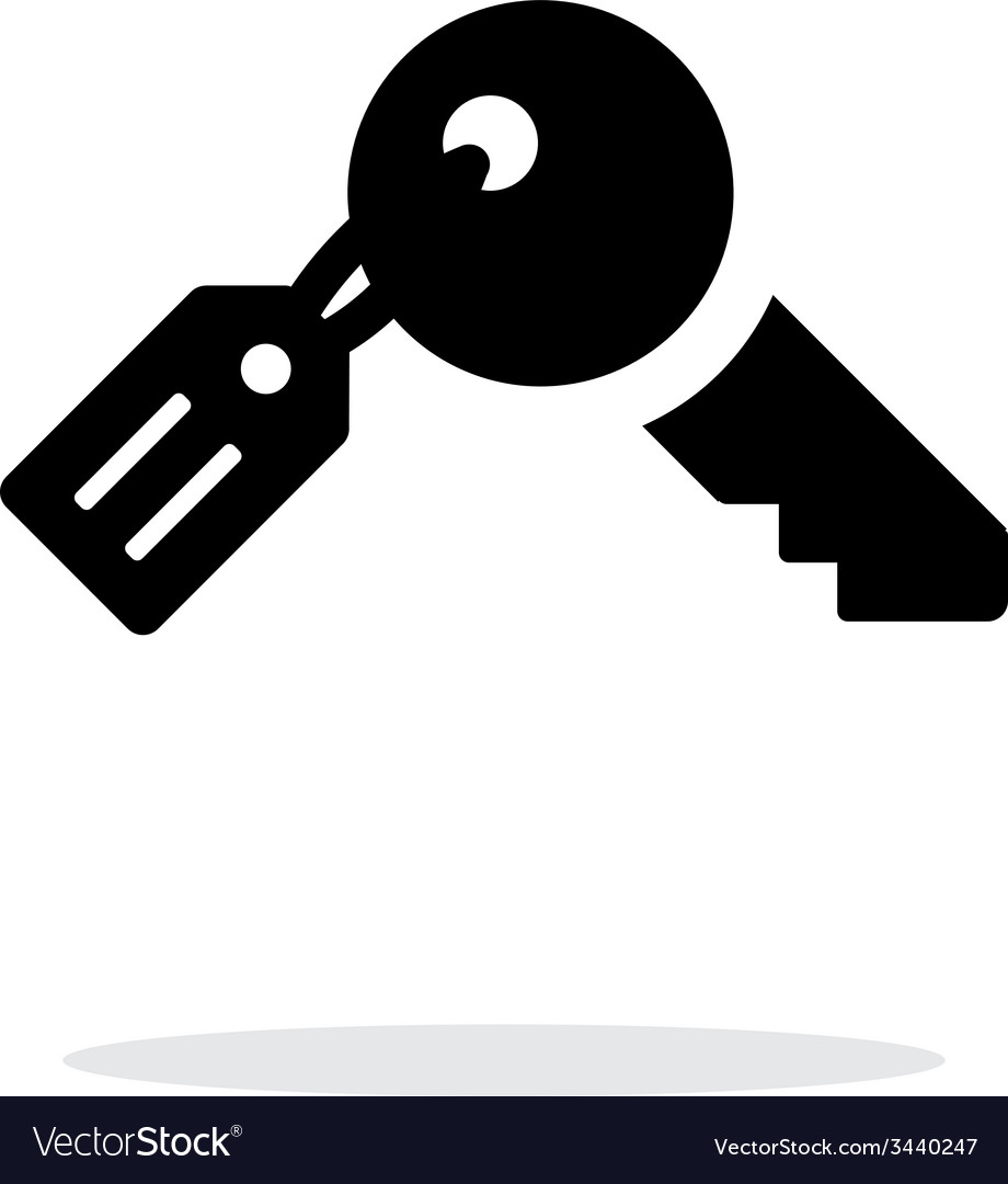 Key with label icon on white background vector | Price: 1 Credit (USD $1)
