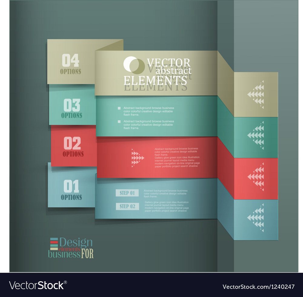 Modern banner items for web business design vector | Price: 1 Credit (USD $1)