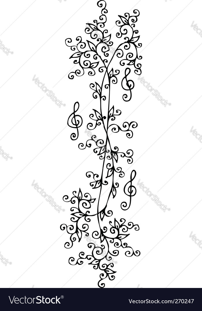 Musical vignette vector | Price: 1 Credit (USD $1)