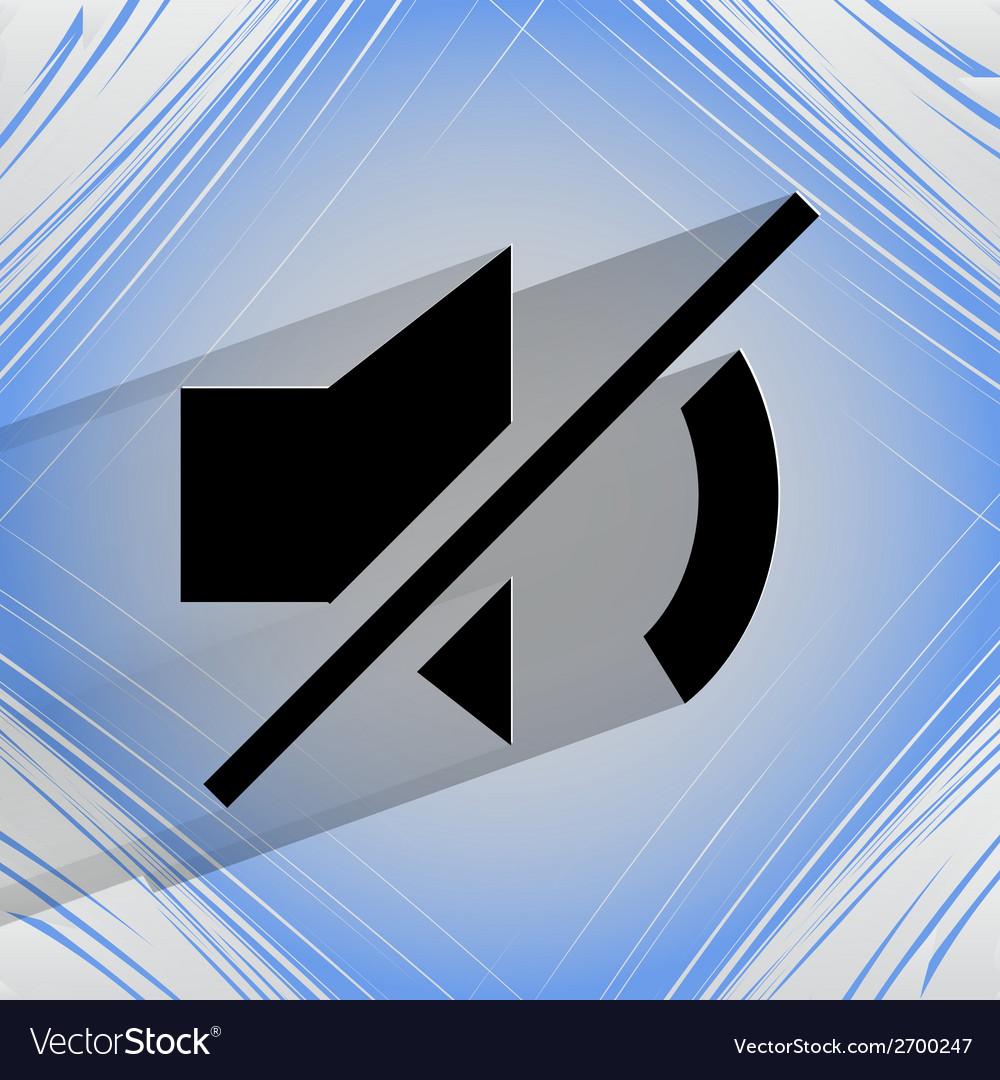Mute sound flat modern web design on a flat vector | Price: 1 Credit (USD $1)