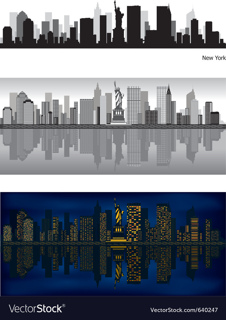 New york city skyline vector | Price: 3 Credit (USD $3)