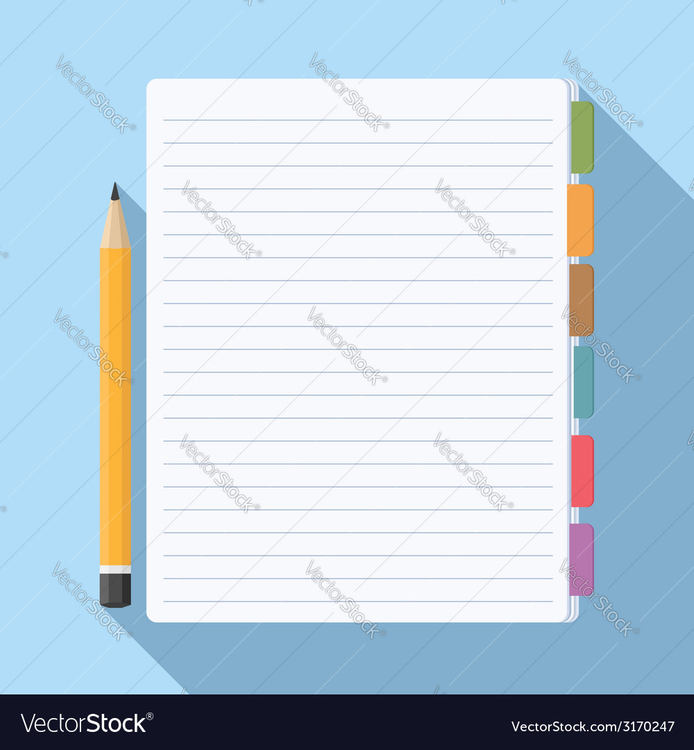 Notepad with bookmarks vector | Price: 1 Credit (USD $1)