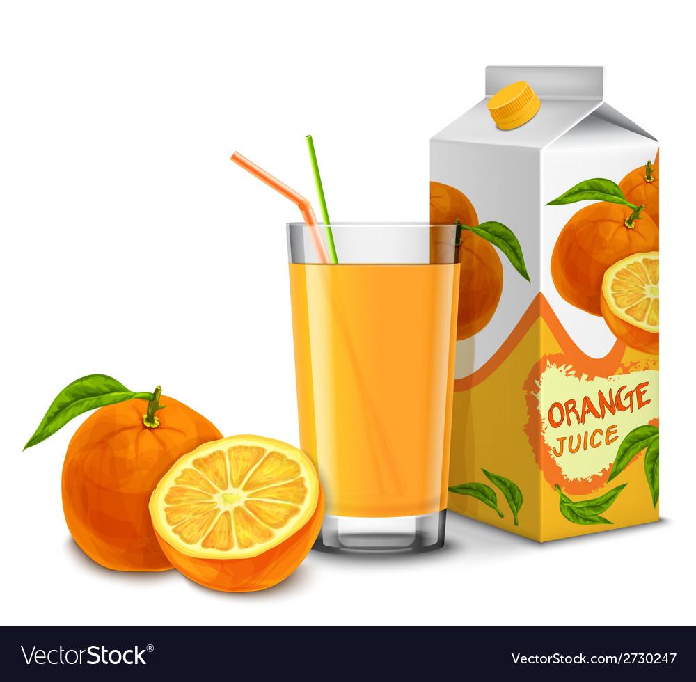 Orange juice set vector | Price: 1 Credit (USD $1)