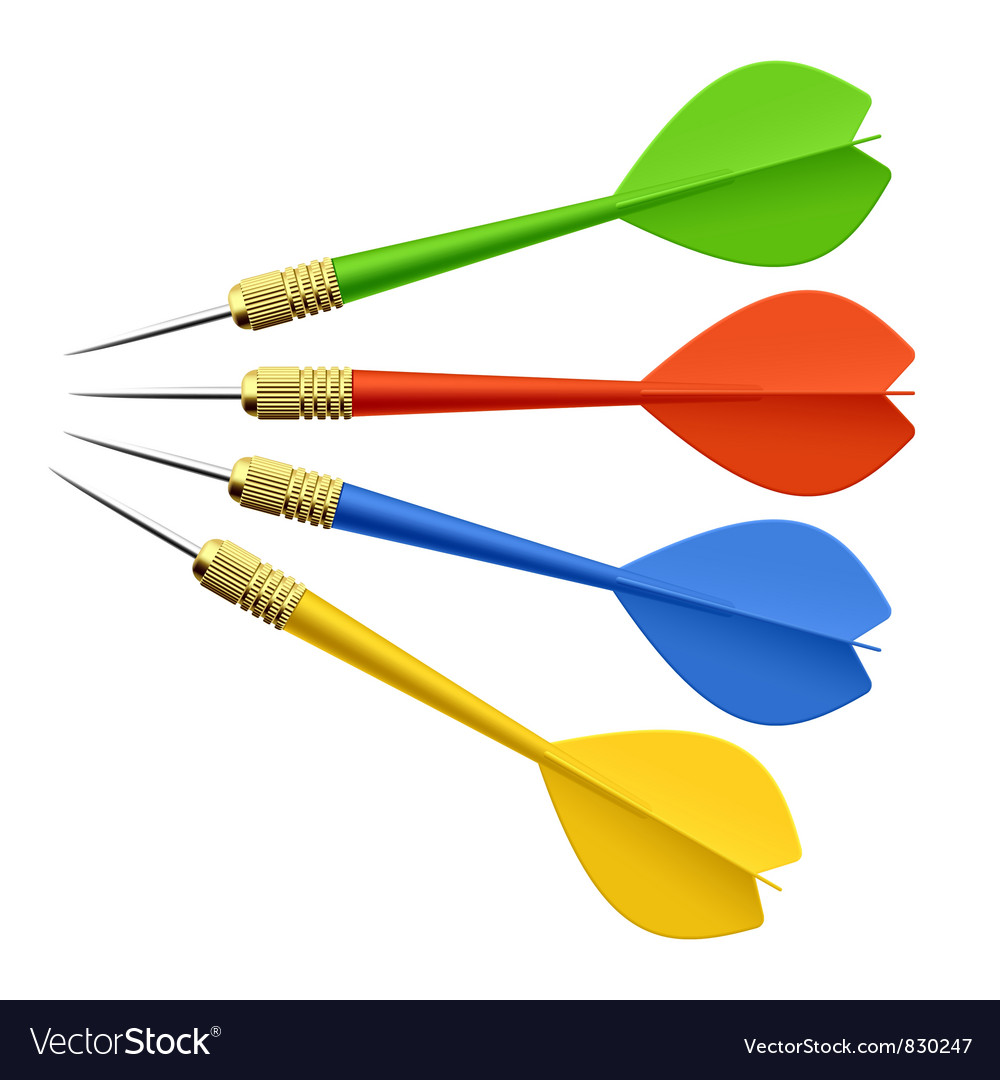 Set of darts vector | Price: 1 Credit (USD $1)