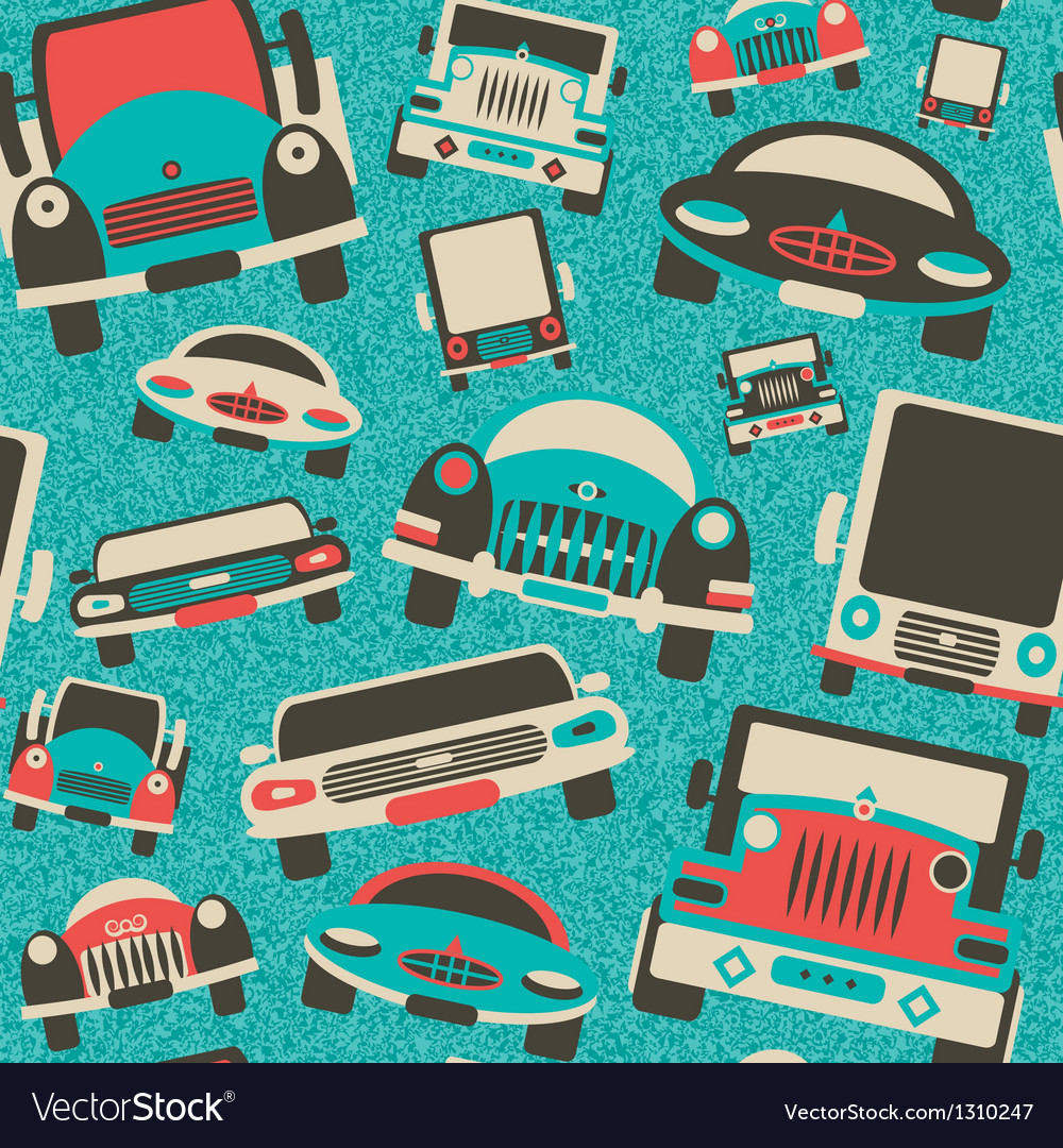 Toys cars traffic print vector | Price: 1 Credit (USD $1)