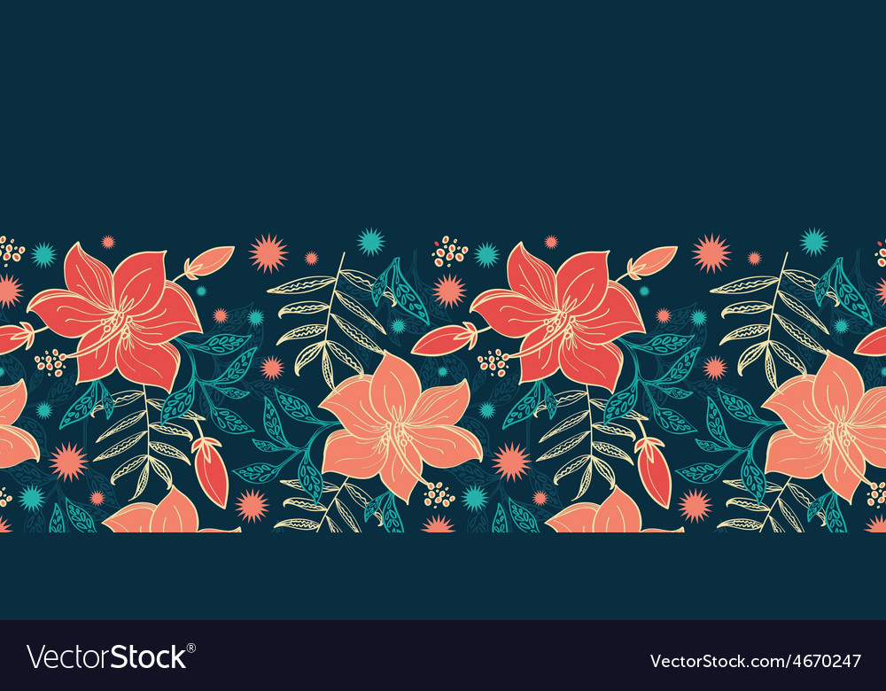 Vibrant tropical hibiscus flowers vector | Price: 1 Credit (USD $1)