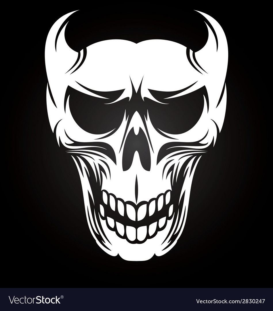 White devil skulls vector | Price: 1 Credit (USD $1)