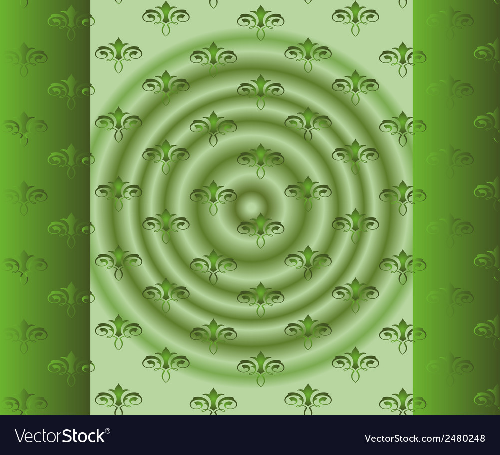 Abstract beautiful green floral background vector | Price: 1 Credit (USD $1)