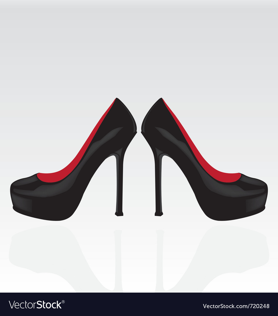 Black women shoes vector | Price: 1 Credit (USD $1)