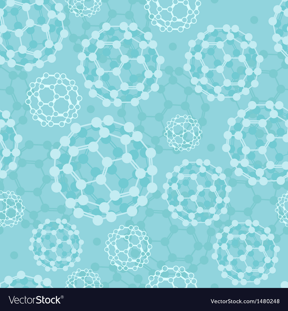 Buckyballs seamless pattern background vector | Price: 1 Credit (USD $1)