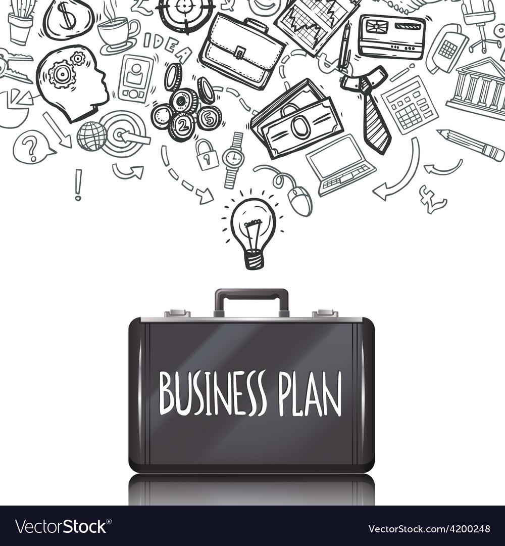Business doodles set vector | Price: 1 Credit (USD $1)