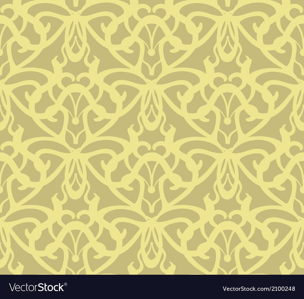 Elaborate golden vintage seamless pattern vector | Price: 1 Credit (USD $1)