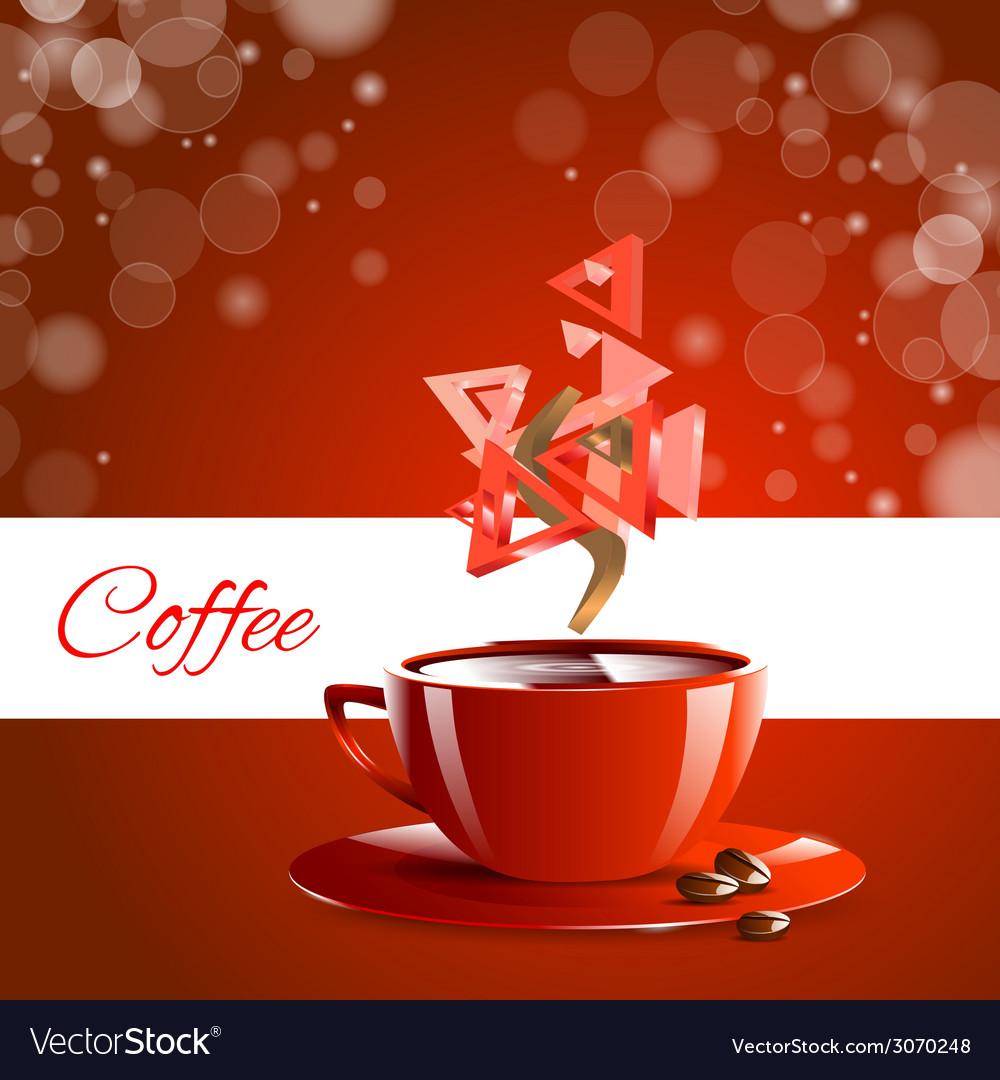 Espresso coffe red coffee vector | Price: 1 Credit (USD $1)