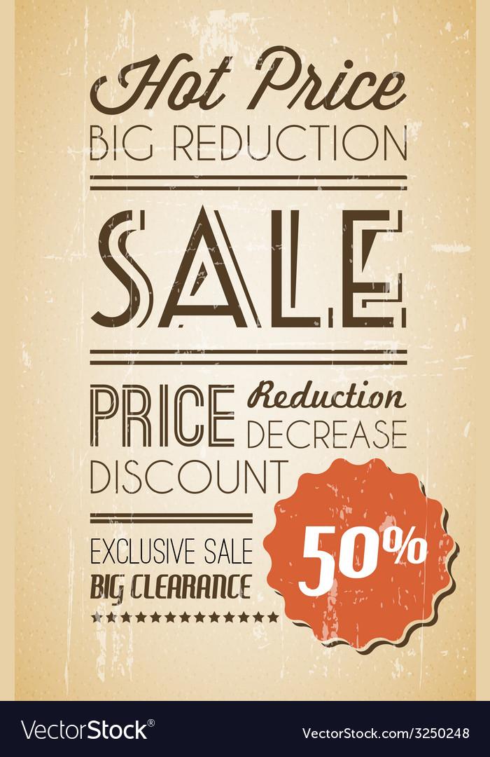 Grunge retro sale background vector | Price: 1 Credit (USD $1)