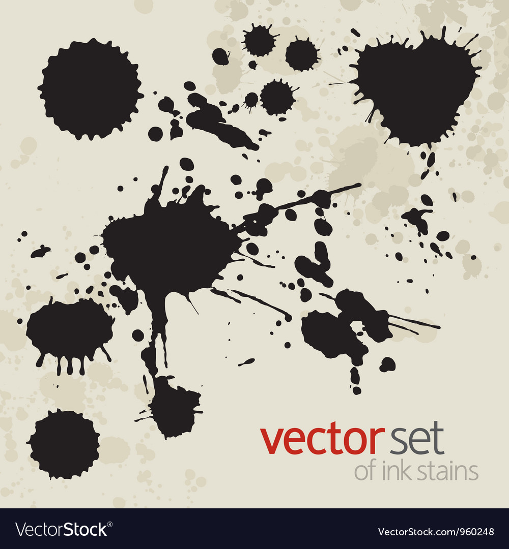 Ink stains set 2 vector | Price: 1 Credit (USD $1)