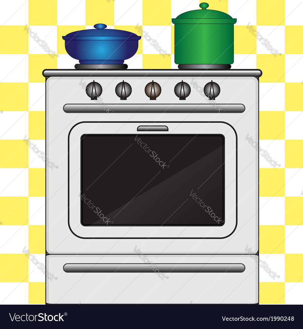 Kitchen stove vector | Price: 1 Credit (USD $1)