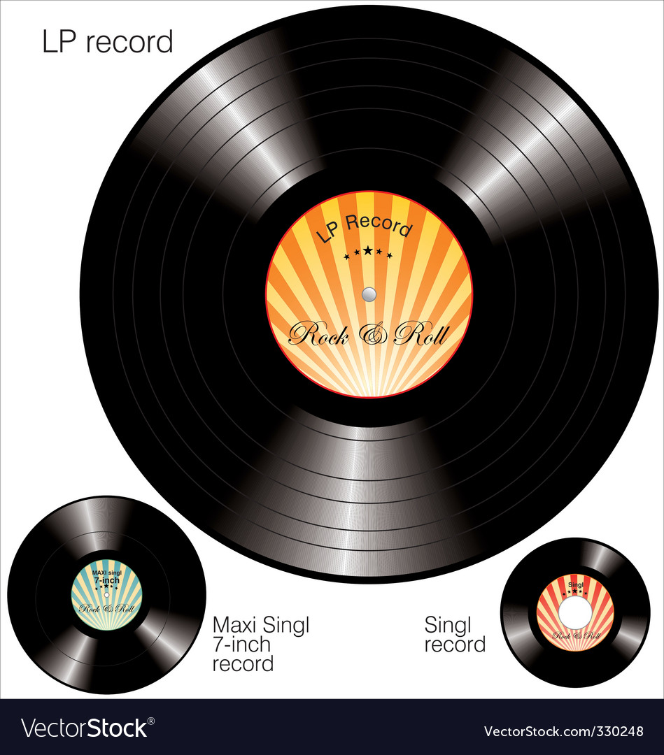 Lp vinyl records vector | Price: 1 Credit (USD $1)