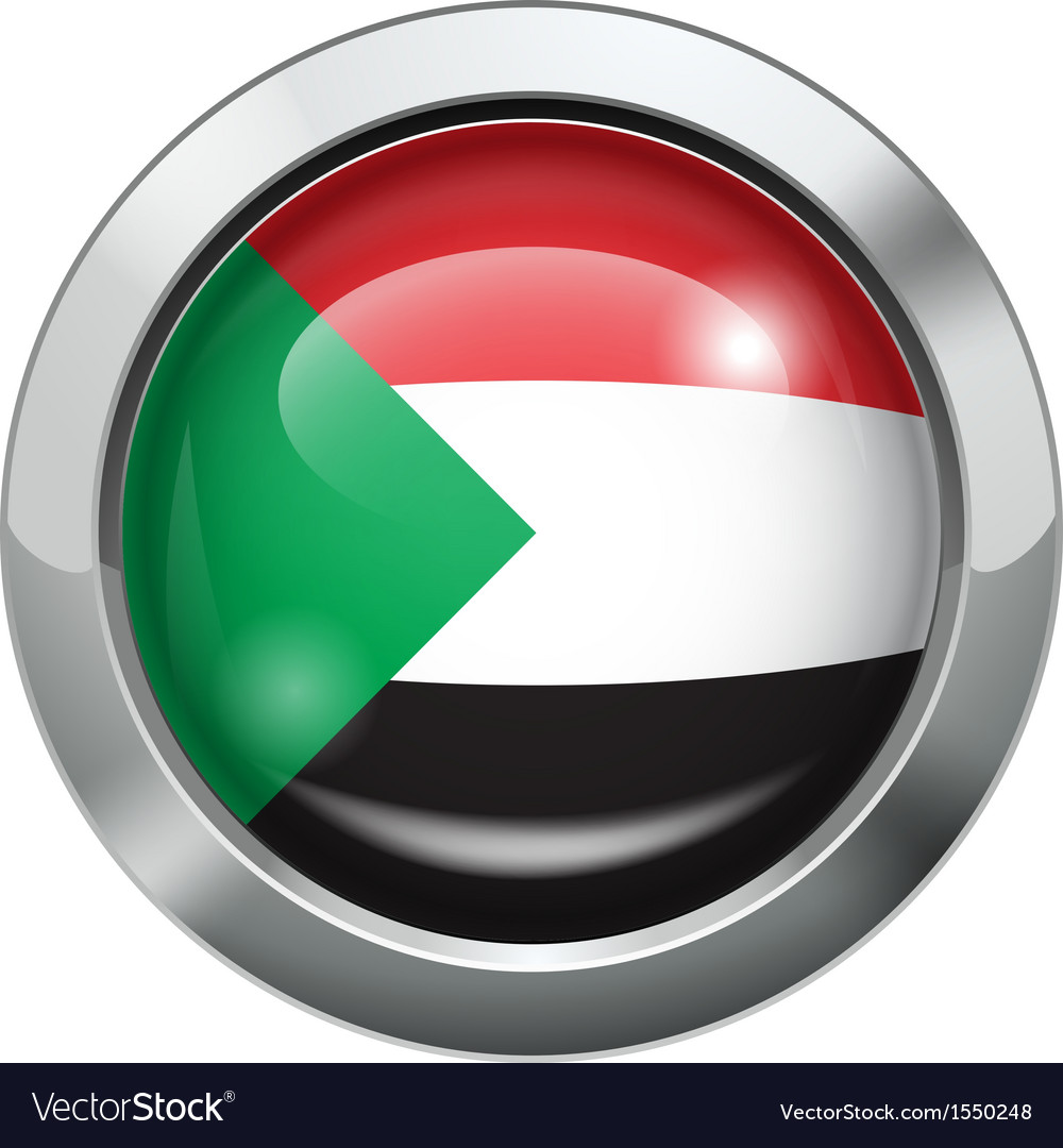 Palestine flag metal button vector | Price: 1 Credit (USD $1)