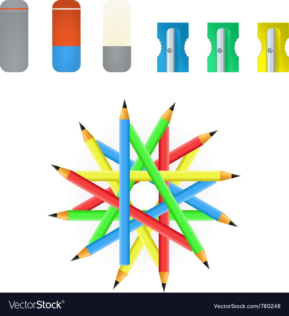 Pencil sharpener and eraser vector | Price: 1 Credit (USD $1)