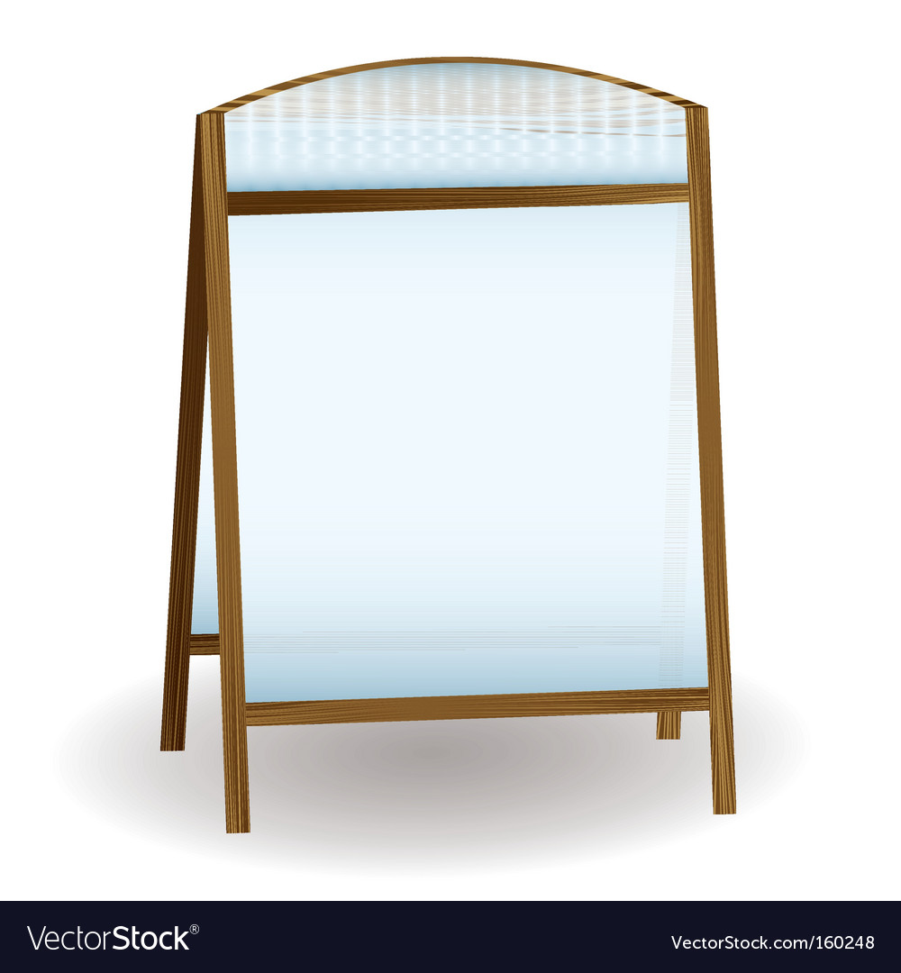 Public notice board vector | Price: 1 Credit (USD $1)