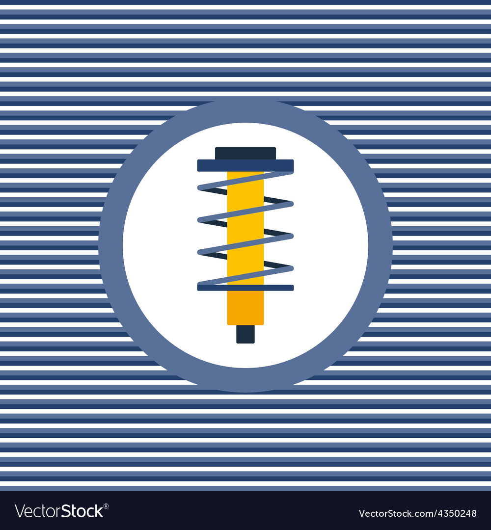 Shock absorber color flat icon vector | Price: 1 Credit (USD $1)