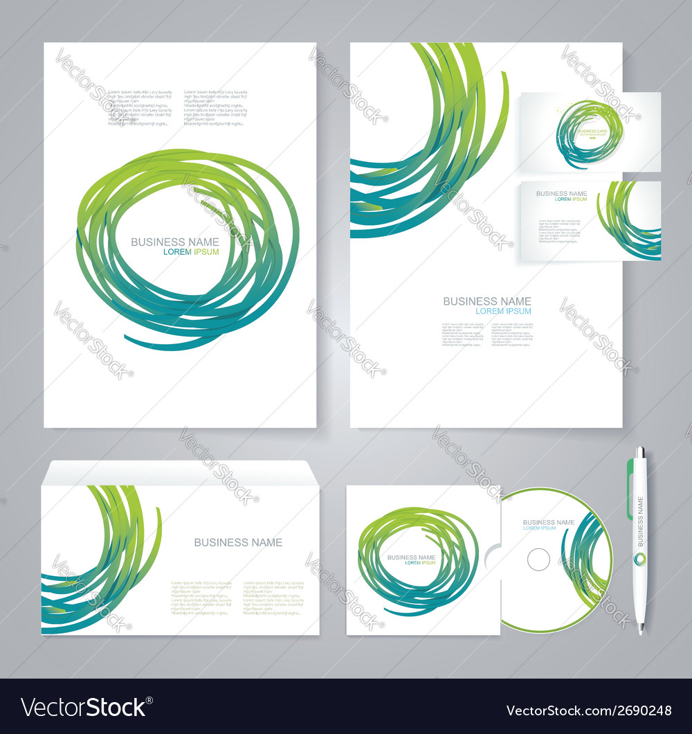 Template for business artworks bio style vector