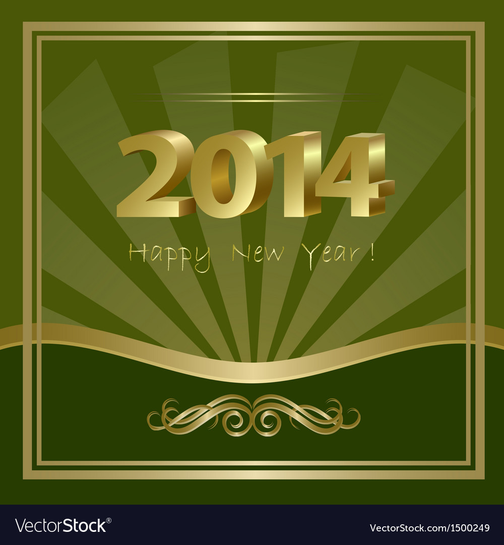 2014 new year background vector | Price: 1 Credit (USD $1)