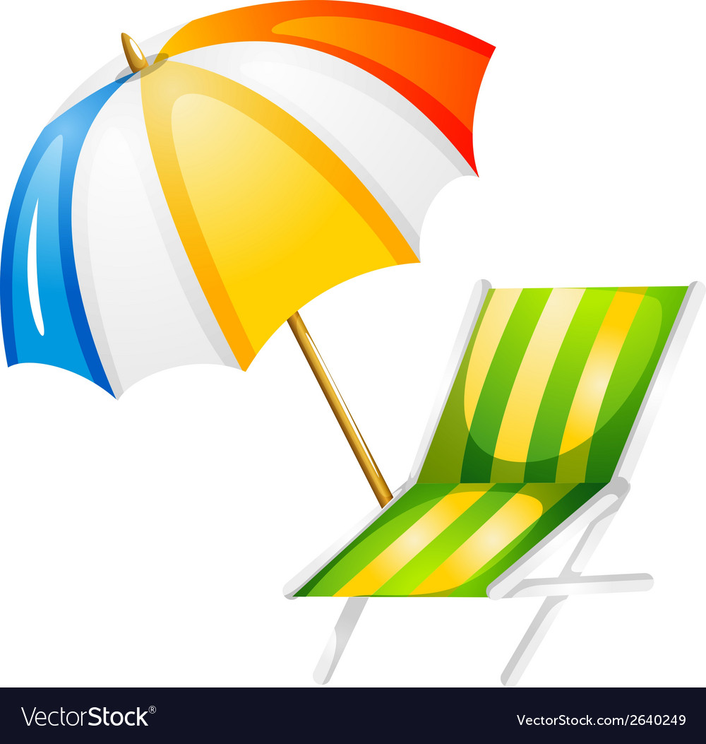 A beach bed and umbrella vector | Price: 1 Credit (USD $1)