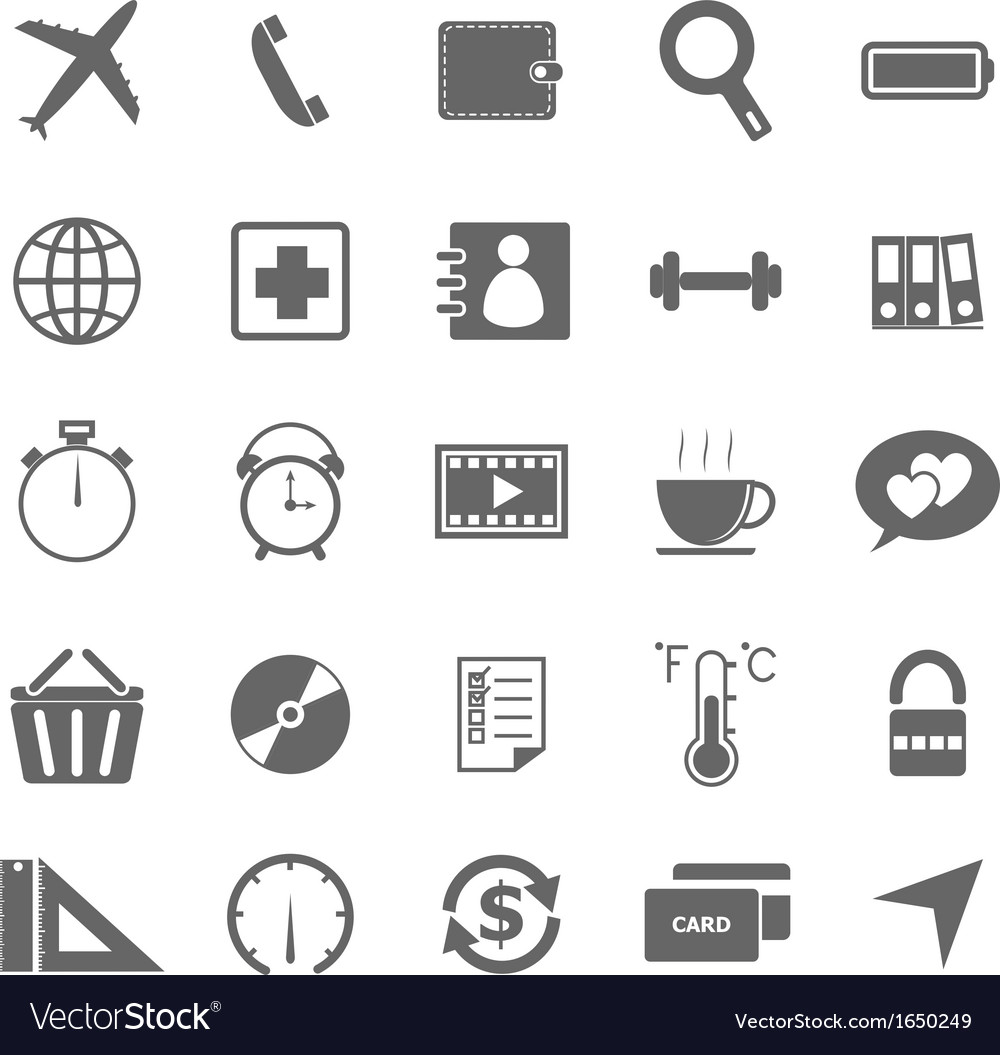 Application icons on white background set 2 vector | Price: 1 Credit (USD $1)