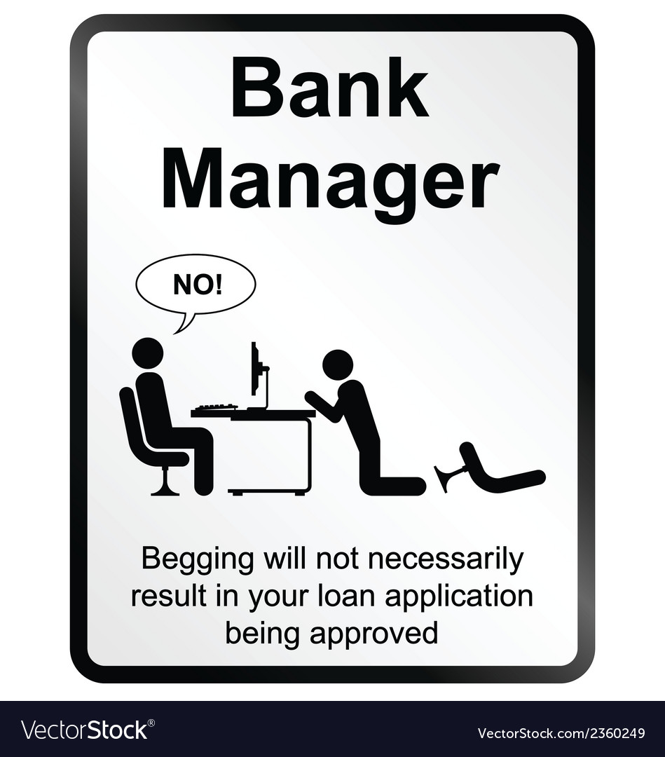 Bank manager information sign vector | Price: 1 Credit (USD $1)