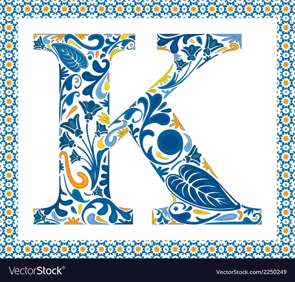 Blue letter k vector | Price: 1 Credit (USD $1)