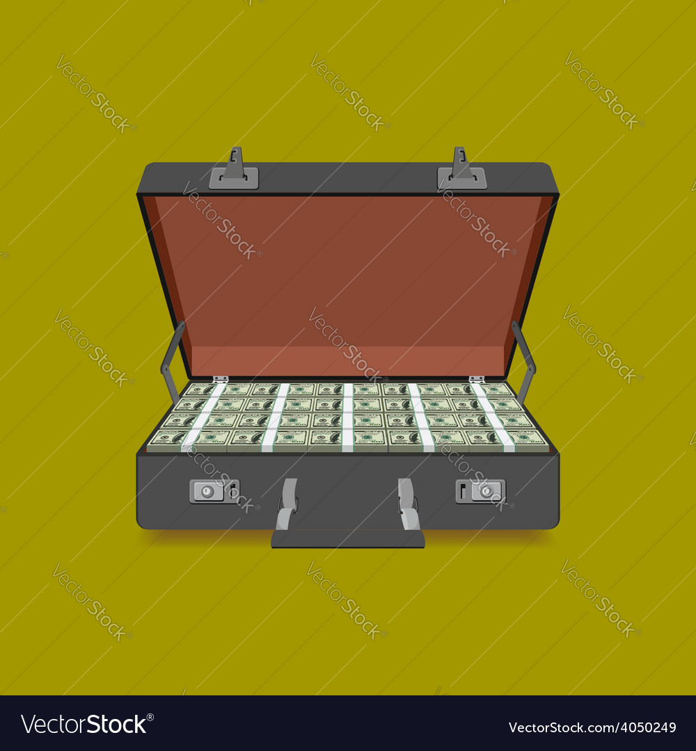 Case full of dollar vector | Price: 1 Credit (USD $1)