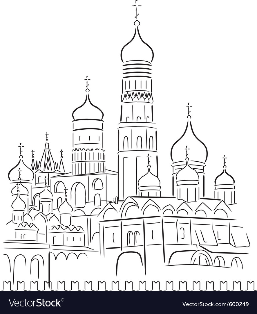 Cathedral of saint basil vector | Price: 1 Credit (USD $1)