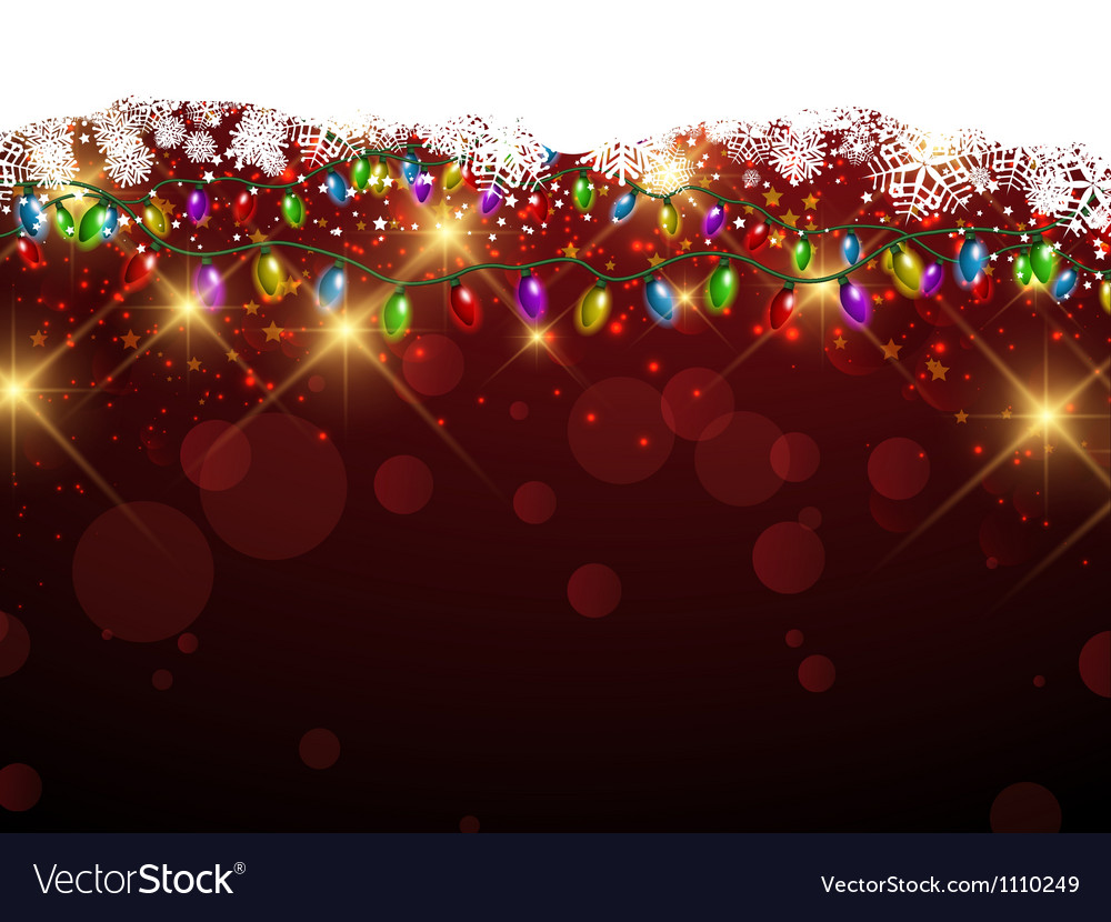 Christmas lights and snowflakes vector | Price: 1 Credit (USD $1)