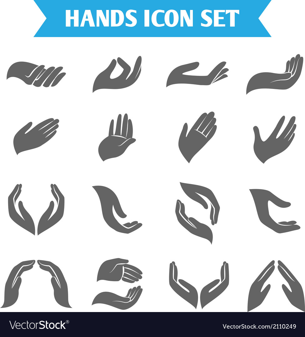 Hand hold protect icons vector | Price: 1 Credit (USD $1)
