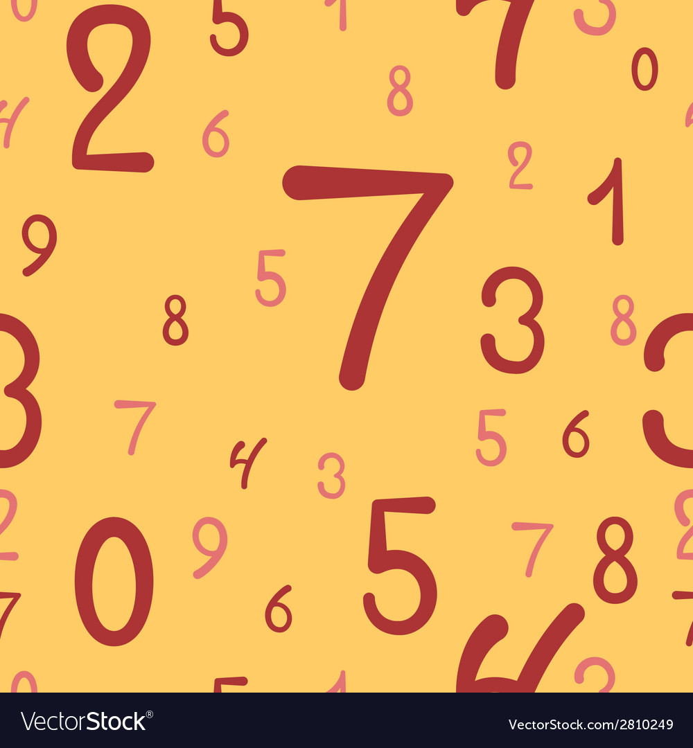 Hand-drawn numbers seamless pattern vector   Price: 1 Credit (USD $1)