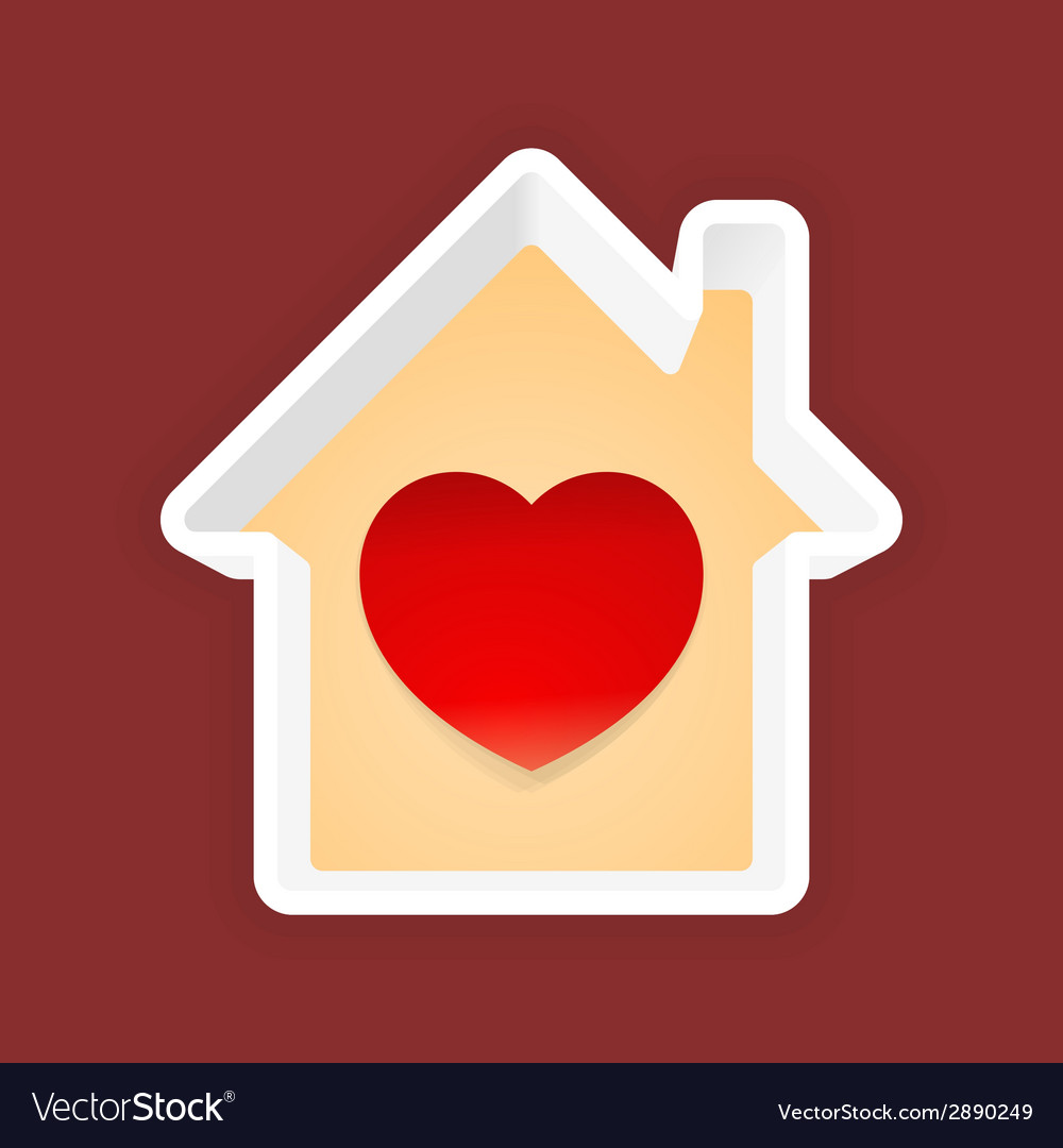 Love home vector | Price: 1 Credit (USD $1)