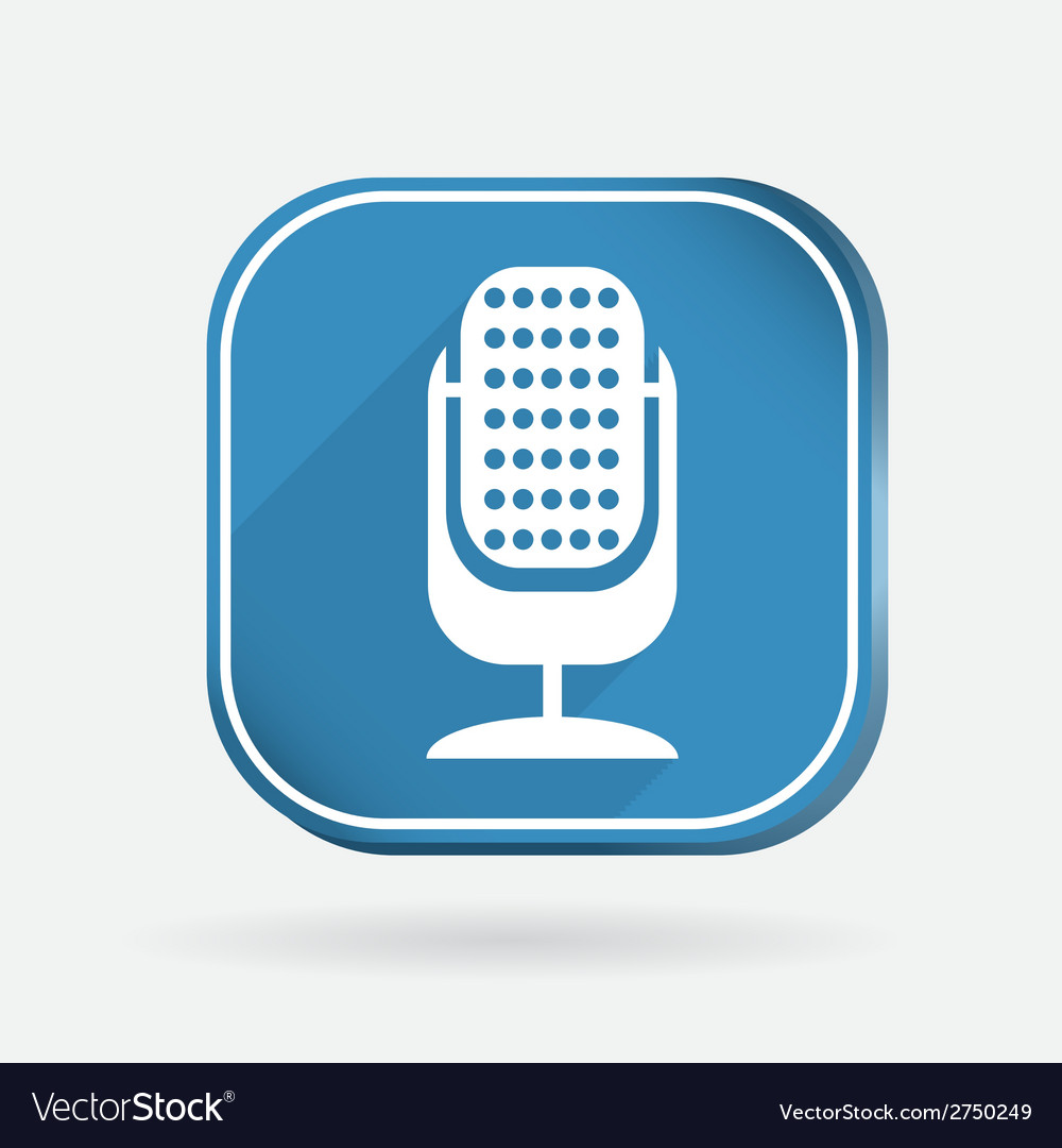 Microphone color square icon vector | Price: 1 Credit (USD $1)