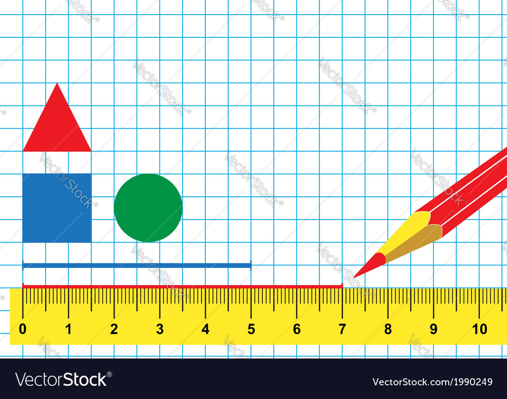 Ruler and pencil vector | Price: 1 Credit (USD $1)