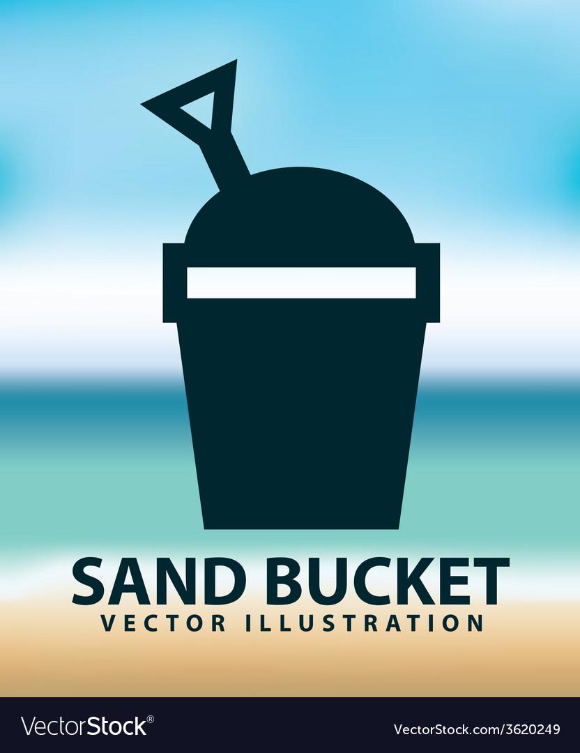 Sand bucket vector | Price: 1 Credit (USD $1)