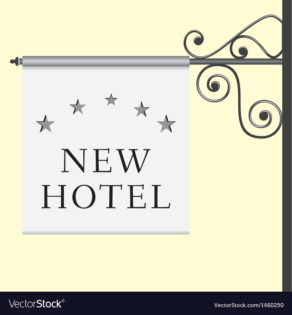 5 star hotel signboard vector | Price: 1 Credit (USD $1)